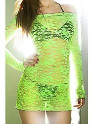 Fluorescente Lace Smock Green (Cadera: los 90-104cm Longitud: 105cm)