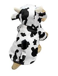 Cães Fantasias / Camisola com Capuz Branco Roupas para Cães Inverno / Primavera/Outono Animal Fofo / Fantasias