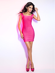 Sheath/Column Square Short/Mini Bandage Dress