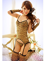 Sexy Leopard Six Pieces Roupa