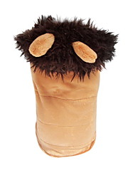 Dog Hoodie Brown Dog Clothes Winter Animal Cosplay