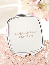 Personalized Stainless Steel Compact Mirror Favor
