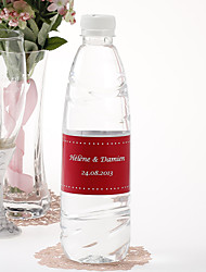 Personalized Water Bottle Sticker - Pin Dot (Red/Set of 15)