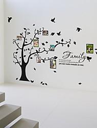 foto de la pared marco de árbol pegatinas flores vida botánicos tatuajes de pared lavables