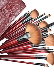 22pcs escova cosmético profissional da composição Set com Bag Couro Moda