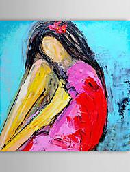 Pintado a mano la pintura al óleo nude con el marco de estirado 1306-LS0284