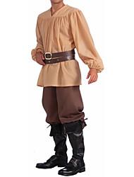 Beige Middeleeuwse Mens Volwassen Kostuum