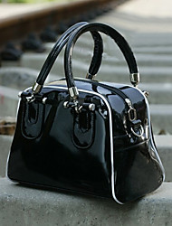 Lady's PU Tote With Long Shoulder Straps