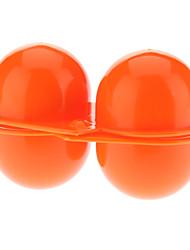 Portable de protection ABS 2 compartiments Egg Box de stockage - orange