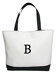 Gifts Bridesmaid Gift Personalized Initial Canvas Bag