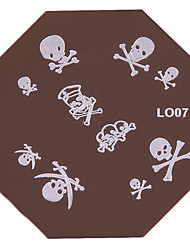 Nail Art Stamp Stamping Image Template Plate L Series No.7-No.13 (Assorted Colors)