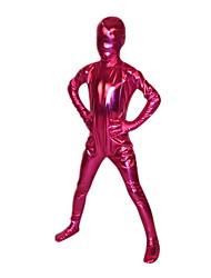 Child Fuschia Shiny Metallic Full Body Zentai