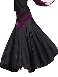 Dancewear Viscose and Velvet Modern Dance Skirt For Ladies