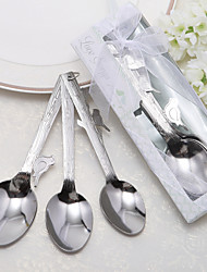 """Love Songs""  Stainless-Stee Measuring Spoons in Gift Box (3 Pieces)"