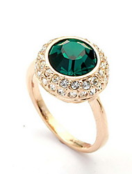 Fashion Gold Plated with Emerald Ring