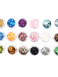 18 Color Glitter Pailletten Nail Art Decorations
