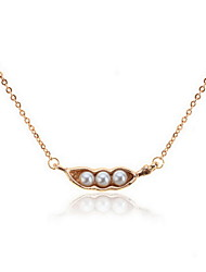 Women's Alloy Necklace Daily/Causal/Outdoor Crystal/Imitation Pearl