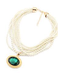 collar de piedras preciosas cosecha de perlas (color surtidos)