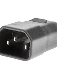 National Standard to 2 Hole Power Adapter for Laptop Black