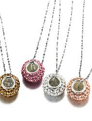 """belle en argent sterling S925 autriche boule de cristal collier de charme 18 """""""