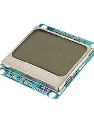 "(For Arduino) Compatible 1.6"" Nokia 5110 LCD Module w/ Blue Backlit - Blue"