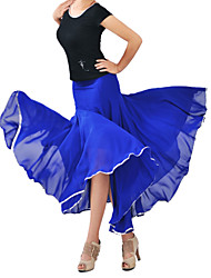Dancewear Chiffon With Satin Modern Dance Skirt for Ladies(More Colors)