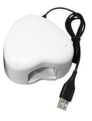 3W mini portátil LED de la lámpara del clavo secador Blanco Amor-corazón