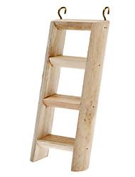 Escada registro de madeira com ganchos para as aves Papagaios