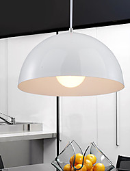 Decent Minimalist 1 Light Pendant with Semi-Spherical Shade