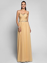 TS Couture Prom Formal Evening Military Ball Dress - Open Back Sheath / Column Sweetheart Floor-length Chiffon withBeading Sash / Ribbon