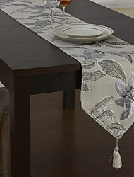 Traditionnels en polyester Jacquard Runners Tableau Floral