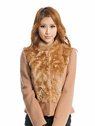 F.NY Camel Fur Collar Shirt Slim Veste courte 1241287