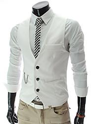 Men'S V Neck Single Breasted Tailored Vest