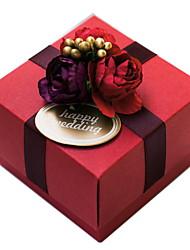 set di 50 bomboniera rosso con i fiori dolci (tag non inlcuded)