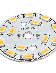 7W 14x5630SMD Warm White Light Aluminum Base LED Emitter (22-24V)