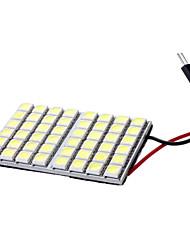 T10/Festoon 6W 48x5050SMD белый свет Светодиодные лампы для автомобиля лампа для чтения (DC 12V)