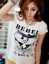 T-shirt Bebei Rocha de impressão da Mulher