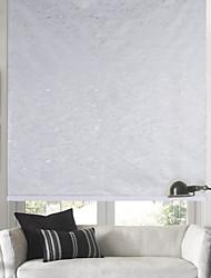 Light Grey Textured Room Darkening Roller Shade