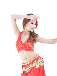 Dancewear Cotton With  Crystals Belly Dance Top for Ladies(More Colors)