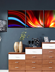 Stretched Canvas Art Abstract Passion Set of 3