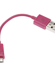 USB 2.0 Male to Micro USB 2.3 Male Cable Rose for NOKIA HTC BlackBerry(0.1M)