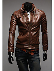 Men's PU Leather two pieces Like Jacket