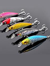 1 pcs Harte Fischköder / kleiner Fisch / Angelköder kleiner Fisch / Harte Fischköder Schwarz / Purpur / Gold / Rot / Blau g/1/10 Unze mm/