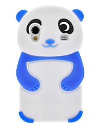 Azul Panda Silicone Soft Case para Samsung Galaxy Ace S5830