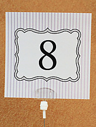 Card paper Table Number Cards 10 Poly Bag