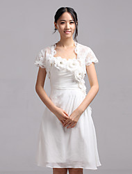 Wedding  Wraps Shrugs Short Sleeve Lace Ivory Wedding / Party/Evening / Casual Capped Open Front
