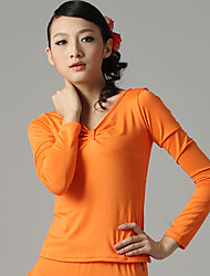 Dancewear Fashion Viscose Ruffles Latin Dance Top for Ladies(More Colors)