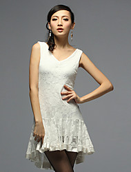 Dancewear Fashion Viscose and Lace Latin Dance Dress for Ladies(More Colors)