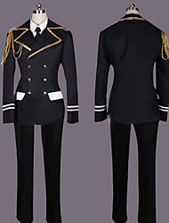 Inspired by Cosplay Shinomiya Natsuki Video Game Cosplay Costumes Cosplay Suits Patchwork Black Long Sleeve Coat / Shirt / Pants / Tie
