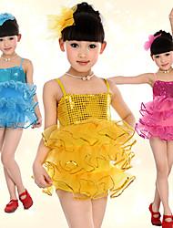 Rendimiento Dancewear Spandex Bonita Con lentejuelas tul vestido de la danza del ballet para los niños (más colores)